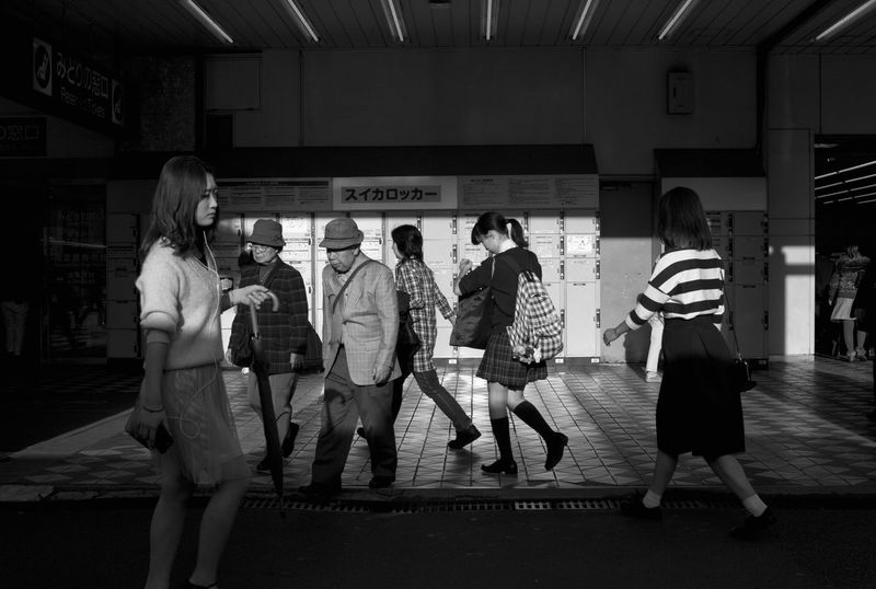 Blackandwhite City Life Contrast Metro Station People Photography Streetphotography The City Light The City Lights Urban Landscape Young Adult Tokyo,Japan The Street Photographer - 2017 EyeEm Awards Mobility In Mega Cities Mobility In Mega Cities
