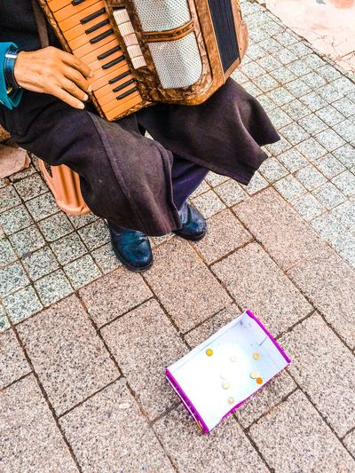 Low Section Of A Street Musician
