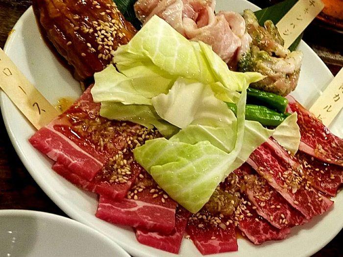 Food Close-up Plate Tokyo 東京 Yakiniku 焼肉 皿 肉食 Dinnertime Japanese Style ごはん Yammy!!