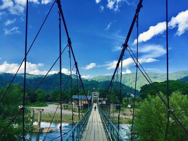 Tree Nature Outdoors Mountain Cloud - Sky Sky Water Bridge - Man Made Structure