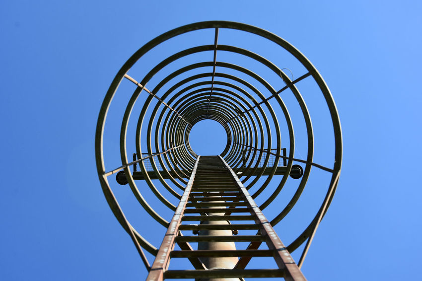 Blue Sky Circles Stairs The OO Mission Tesserete Lugano, Switzerland Showcase July From The Ground To Up