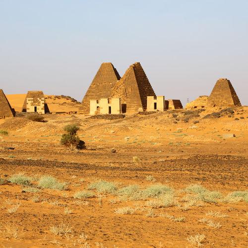 Buildings in a desert