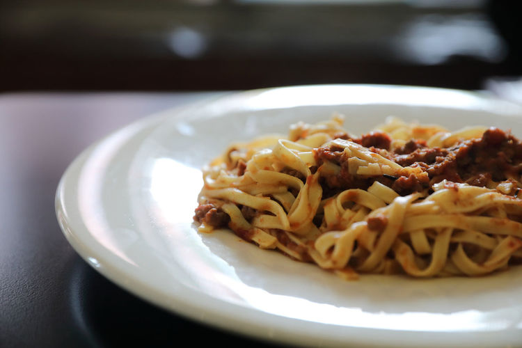 Spaghetti Bolognese Bolognese Spaghetti Plate Food Food And Drink Ready-to-eat Italian Food Pasta Freshness Serving Size Meal Dinner