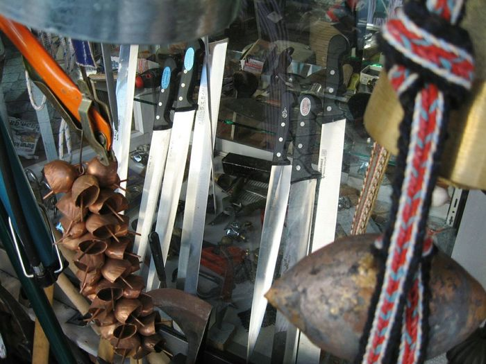 Variation Choice Business Finance And Industry Hanging Retail  Indoors  Workshop Close-up No People Day Knives For Sale Knives Shop Ironsmith Handcraft Metalwork