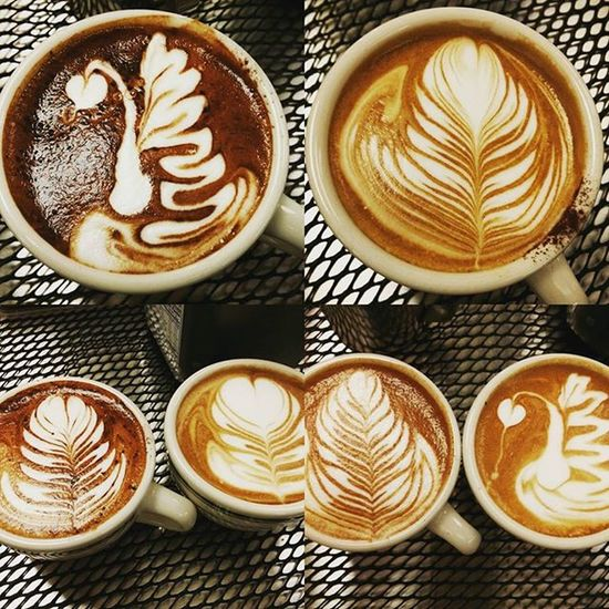 Missed those days of pouring with my staffs. Rustybarista Latte Coffee Art Tulip Barista Espressomachine InCasa