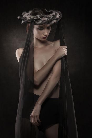 Portrait Of Slim Fashion Model