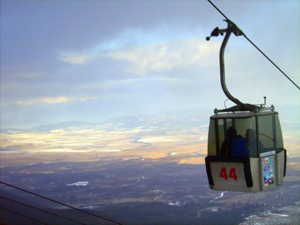 Atmospheric Mood Cloud - Sky Cloudscape Dramatic Sky Gondola Moody Sky Ski Lift Sky Slowakia Storm Cloud Sun Tatra Mountains
