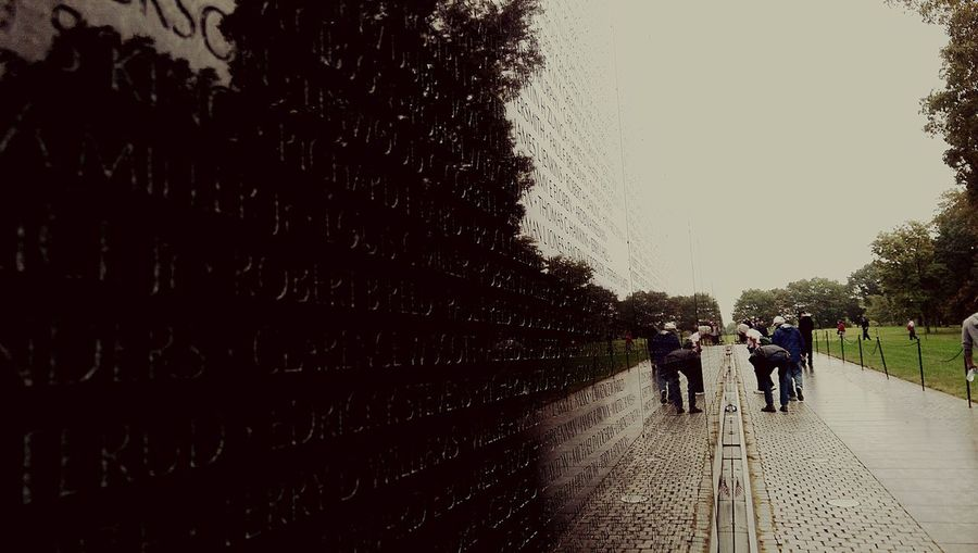 Vietnam War Memorial Infinite Sadness Mirroreffect Nature Human Behavior So Many Lives Lost