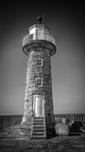 Whitby Pier Lighthouse Malephotographerofthemonth Landscape_photography Landscape Creative Light and Shadow Blackandwhite Photography Monochrome Bnw Architectural Feature Scenic Landscapes Whitby View Lighthouse_captures Lookout Tower Lighthouse Tower Sky Architecture Building Exterior Built Structure Tall - High