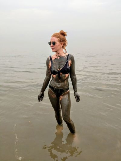spa day in Earth's lowest point Deadsea Mud Redhead Sea And Sky Sea EyeEmNewHere