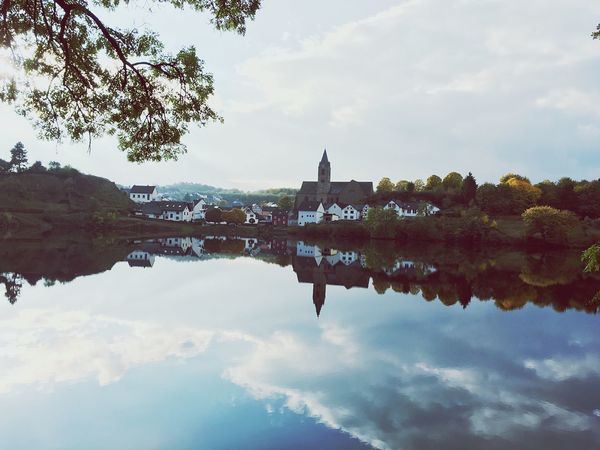 Reflection Architecture Water Sky Built Structure Waterfront Building Exterior Place Of Worship Religion Spirituality No People Cloud - Sky Outdoors Travel Destinations Day Tree Nature Beauty In Nature Nature EyeEm Nature Lover Autumn Lake Water Reflections Germany Tourism