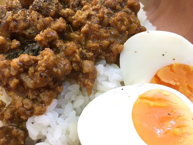 Lunch Keema Curry Egg Yummy Shot On IPhone 6s Spicy Food