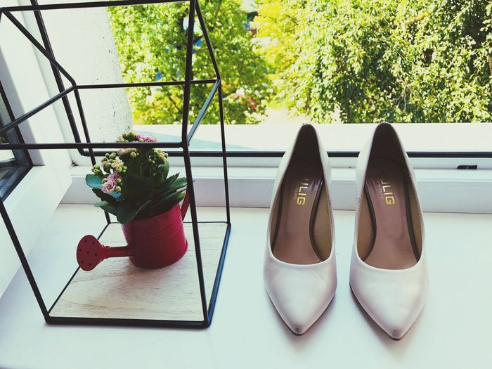 Wedding Day Wedding Photography Wedding Plant No People Indoors  Nature Growth Window Potted Plant Table Day Shoe Flower Fashion