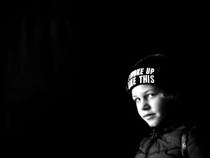 Angel I WOKE UP LIKE THIS Sankt-Petersburg Sankt-peterburg Russia Big City Life Autumn🍁🍁🍁 Model Style ✌ Childhood Children Black Background Portrait Child Close-up Kid