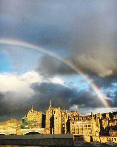 Rainbow Edinburgh Sky Cloud - Sky No People Cityscape Nature
