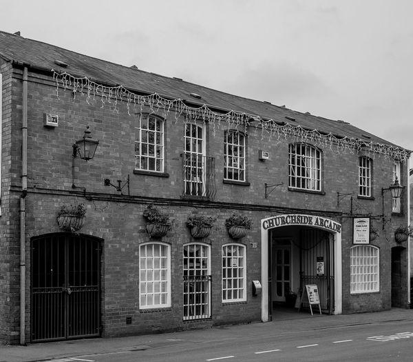 Churchside Arcade, Rugby, Warwickshire Rugby Rugbytown Warwickshire Black And White Monochrome Architecture FUJIFILM X-T10