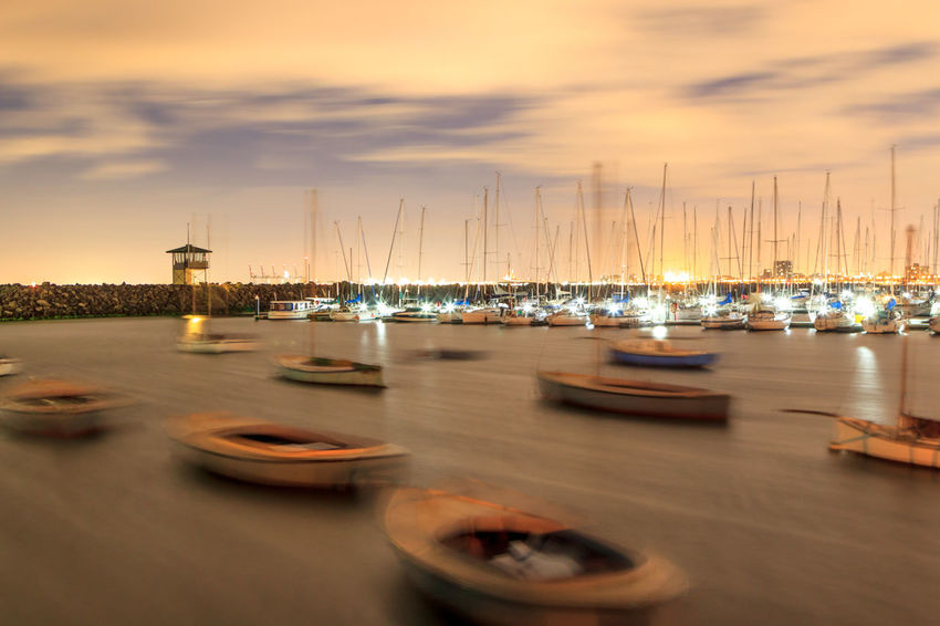 Boats bobbing at night at St Kilda Pier Cloud - Sky Extended Exposure Eye4photography  EyeEm Best Shots Harbor Illuminated Large Group Of Objects Mode Of Transport Moored Nature Nautical Vessel Night No People Outdoors Sailboat Sky St Kilda Sunset Transportation Travel Water Yacht