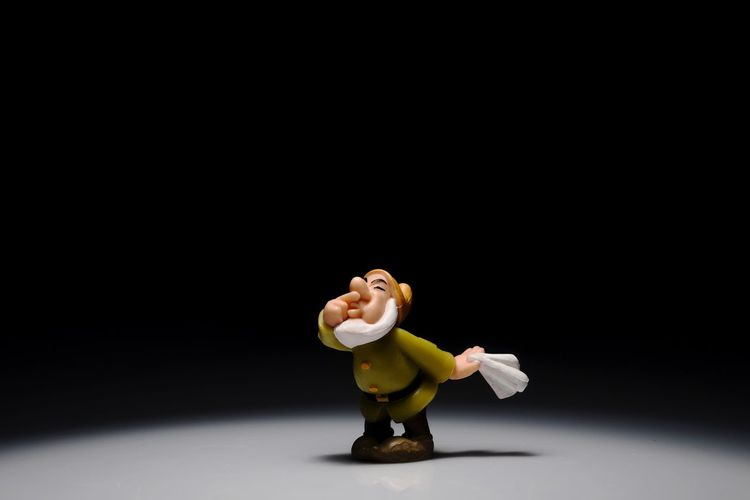 EyeEm Selects Sneezy Studio Shot Black Background One Person Indoors  Toy Toyphotography Seven Dwarves Sneezy