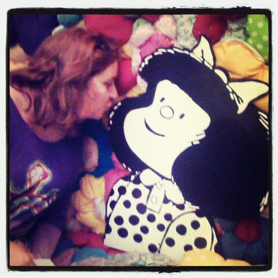 Me and my sweet Mafalda 50 Years Of Mafalda Quino ♡♡♡