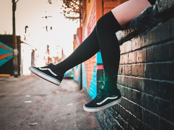 Off the Wall 👟 EyeEmNewHere Vans PortraitPhotography Portrait Portrait Of A Woman Graffiti Lifestyles One Person Real People Leisure Activity Outdoors Shoe Exercising Women Healthy Lifestyle Young Adult People Adult Young Women Low Section Human Leg Day City Built Structure Architecture