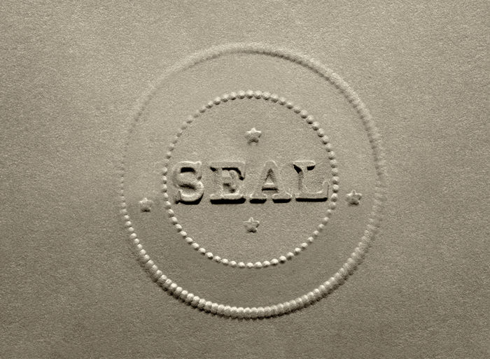 Antique Document Raised Seal with Copy Space Business Legalize Official Witnessing Accuracy Authentication Banking Document Certificate Corporate Seal Counterfeit Documentary Endorsment Genuine Identity Legal Document No People Notary Notary Documents Stationary Validation