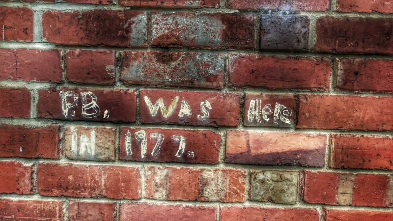 Pb Graffiti Brick Wall Full Frame Backgrounds Day Text Architecture All In All It Was Just Another Brick In The Wall Years Past 1977 My Youth Times Gone By Paint Wall Wall Painting Was Ere Graffitiporn Graffiti Wall Graffiti Collection GrungeStyle