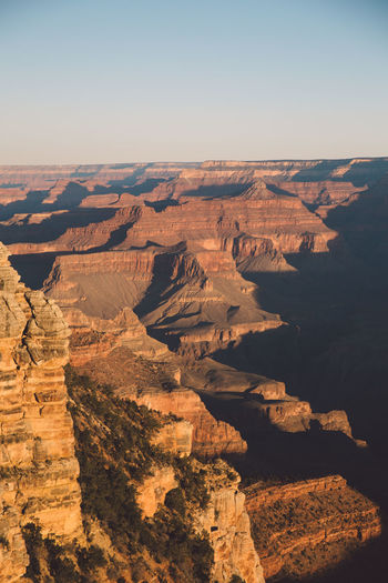 Scenic View Of Grand Canyon National Park Against Clear Sky