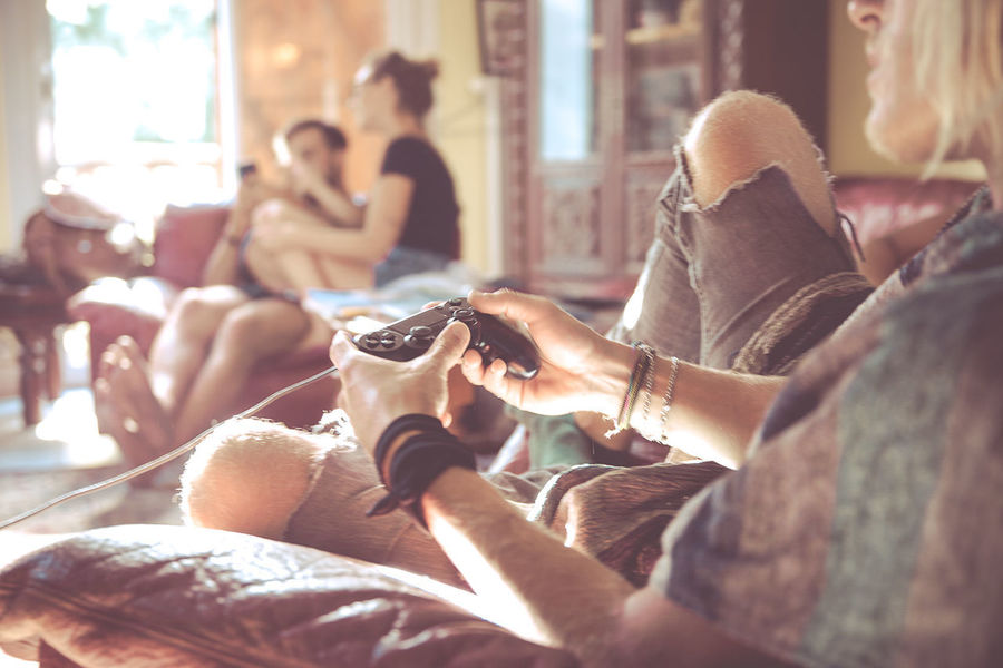 Friendship Game Indoors  Joypad Playing Playstation Sitting Togetherness Young Adult