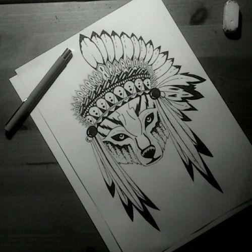 Art Wolf Pencil Drawing Blackandwhite Artistic Pen Drawing Drawing Rysunek Wilk
