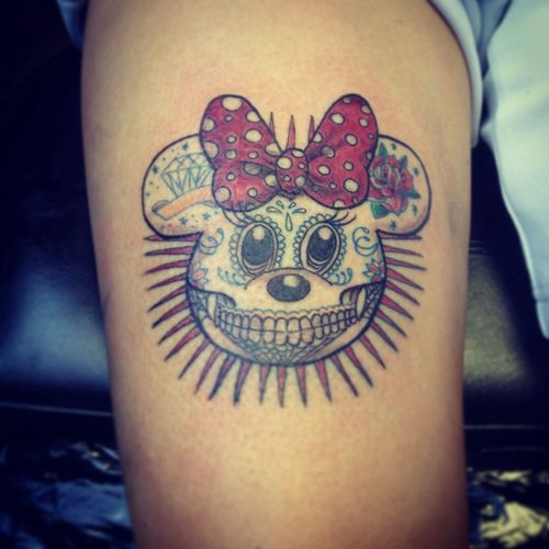 Minnie Calavera Tattoo Getting Inked No Pain, No Gain