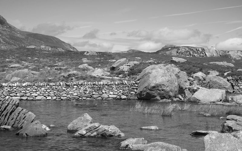 Cymru Wales Beauty In Nature Blackandwhite Day Fujifilm_xseries Lake Landscape Llyn Idwal Mountain Nature Outdoors Rocks Scenics Sheep Snowdonia Snowdonia National Park Water Monochrome Lost In The Landscape