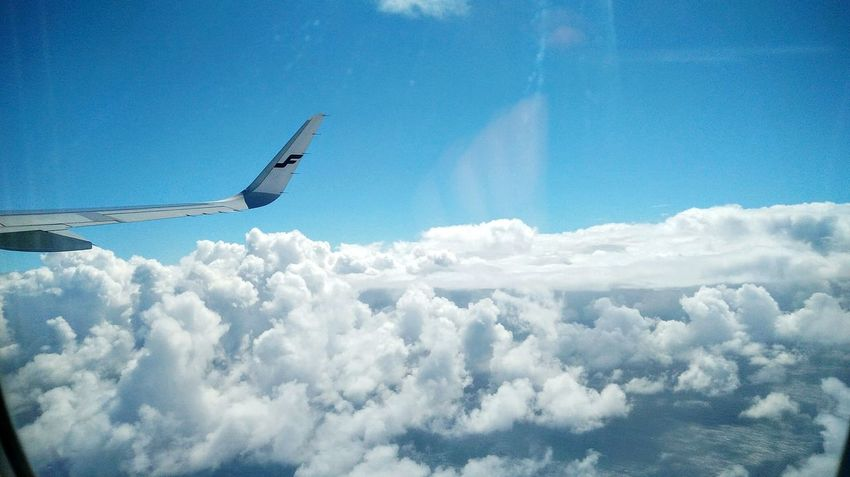 Through The Airs✈️ Airplane Cloud - Sky Sky Travel Aircraft Wing Transportation Flying Plane Cloudscape Journey Traveling Finnair