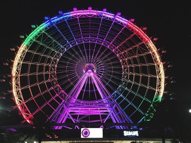 Orlandostrong Orlando Rainbow Lights Ferris Wheel No People Scenic