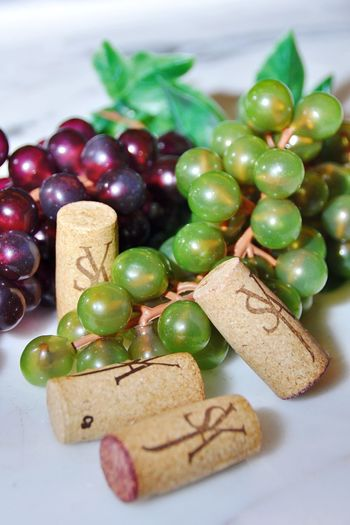 Food And Drink Still Life Food Indoors  Freshness Christmas No People Table Green Color Close-up Ready-to-eat Sweet Food Healthy Eating Wine Grape Wine Cork Fruits
