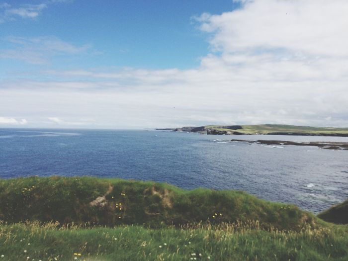 Scenics Nature Tranquility Sea Sky Beauty In Nature Tranquil Scene Water Grass No People Ireland🍀 Day Horizon Over Water Outdoors Landscape Scenery