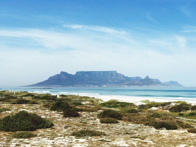Table Mountain Water Sky Sea Scenics - Nature Beauty In Nature Beach Land Mountain
