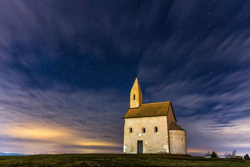 Drazovce church at night Landscape Night Nightphotography Sky Clouds Slovakia Church First Eyeem Photo