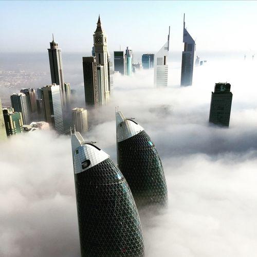 Fog in Dubai Dubai Building Tower Clouds Fog First Eyeem Photo