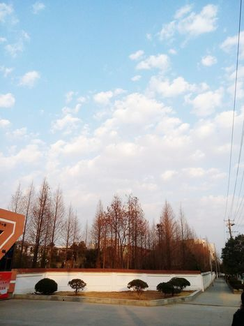 China View Hometown Scenery Landscape Winter Trees Clouds Clouds And Sky