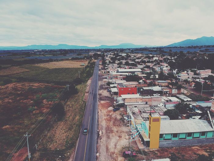 Road Jalisco Sky Architecture Cloud - Sky Built Structure Building Exterior City High Angle View Day Transportation