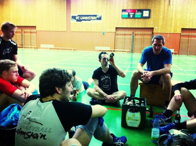 Cooldown after volleyball training Meeting