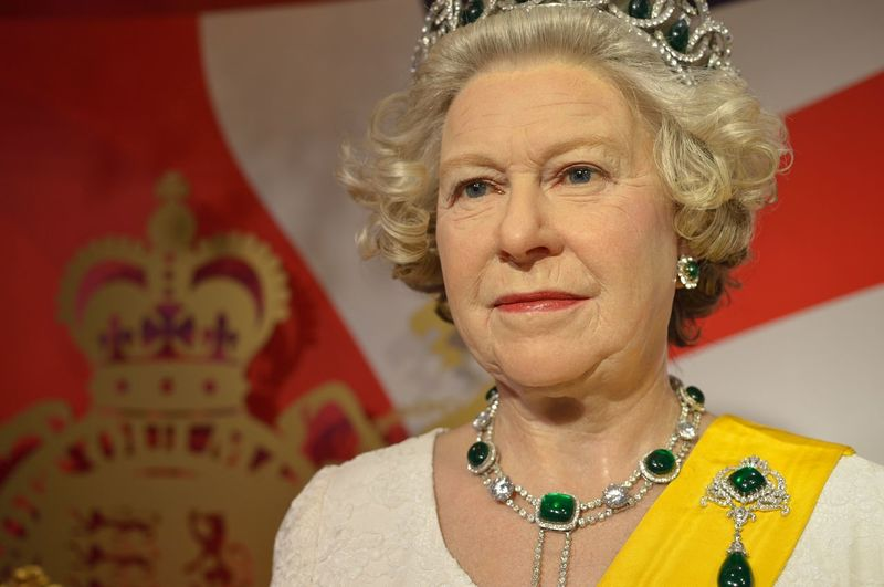 Queen England Confidence  Fashion Front View Happiness Head And Shoulders Indoors  Lifestyles Long Hair Looking At Camera Madame Tussauds Person Portrait Real People Serious Smiling Studio Shot Wax Dolls Wax Museum Young Adult Young Women