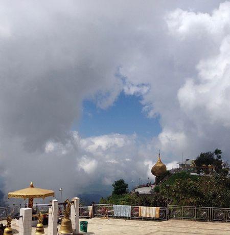 Cloud Cloud - Sky Cloudscape Cloudy Dramatic Sky Golden Rock Goldenrock Moody Sky Myanmar Outdoors Sky Storm Cloud Trip Weather