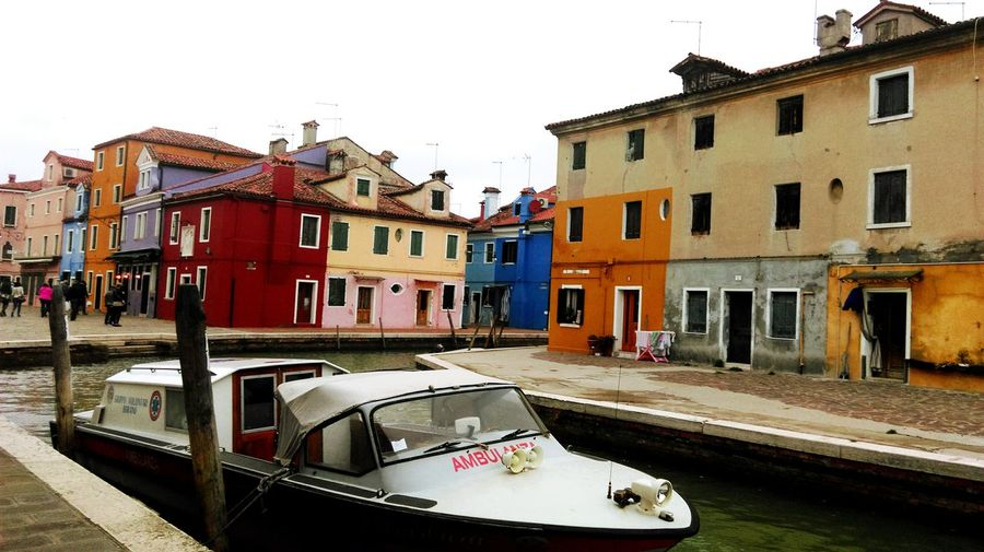Burano, Italy Ambulance Boat Colour Boat Water Beautiful Place ♥ No People The Week On EyeEm Been There. EyEmNewHere Buildings
