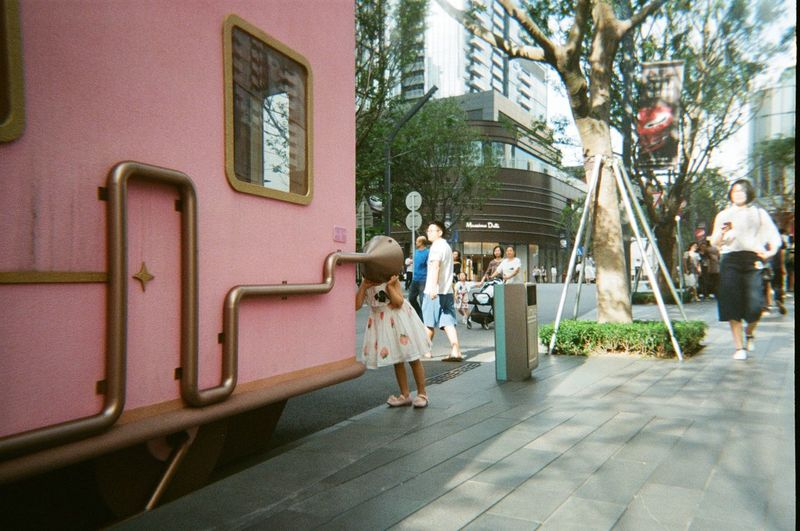 This is a picture full of childlike innocence Fairytales Fairytales & Dreams Kids Being Kids Pink The Fashion Photographer - 2018 EyeEm Awards Building City Girl Mixcolour Offspring Outdoors First Eyeem Photo
