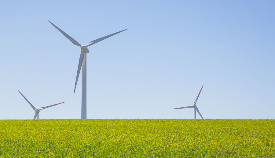 Turbine Wind Turbine Environmental Conservation Renewable Energy Fuel And Power Generation Alternative Energy Environment Wind Power Landscape Field Sky Land Rural Scene Agriculture Nature Plant Farm Grass Beauty In Nature Day No People Outdoors Sustainable Resources