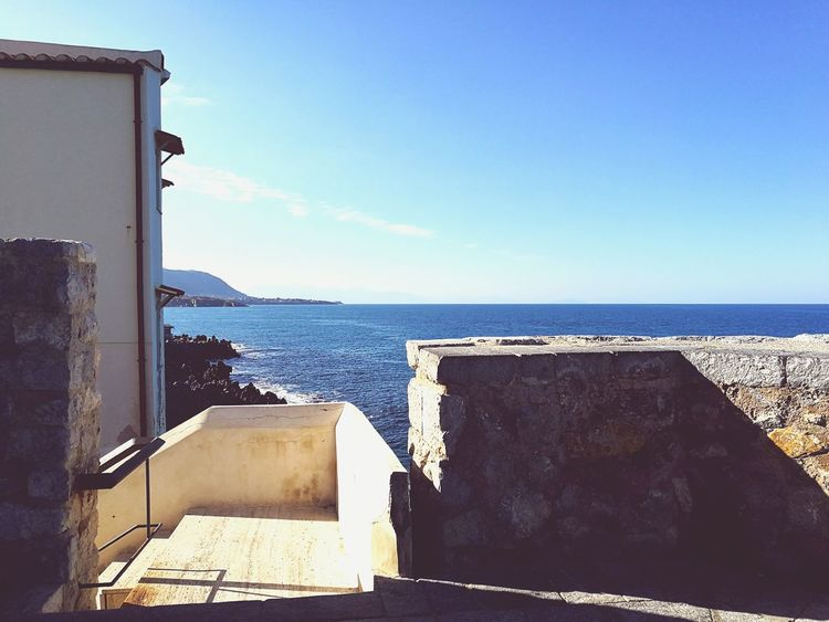 Travel Destinations Water Sky Sea Cefalú, Sicilia, Mare, Paesaggio HuaweiP9 Architecturephotography Day Outdoors Blue Sea Bastion Bastioni Bastione