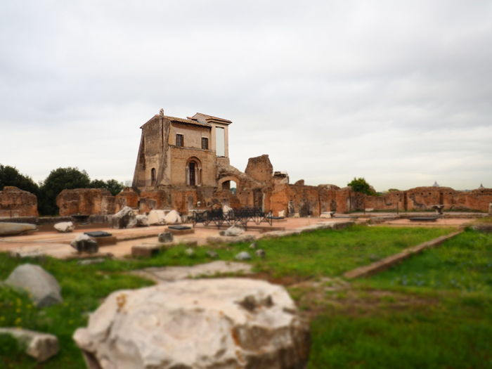 Ancient Empire Roma Ancient Ancient Civilization Ancient Ruins Architecture Bad Condition Building Exterior Built Structure Cloud - Sky Day History House Nature No People Old Ruin Outdoors Palatine Hill Sky The Past Tree