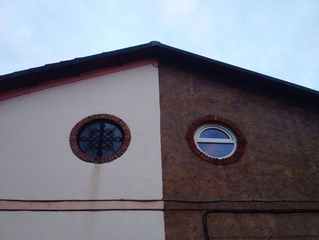 Building Exterior Old Building  Architecture Urbanphotography No People Built Structure Old Factory Outdoors Urban Geometry Industrial Photography Day Circular Window Bicolor The Architect - 2017 EyeEm Awards