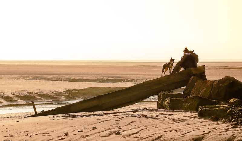 The collapsed jetty Sky Real People Scenics - Nature Group Of People Land Lifestyles Nature Leisure Activity Beauty In Nature Men Desert Clear Sky Landscape Women Water Sunset Environment Copy Space People Arid Climate Outdoors Climate